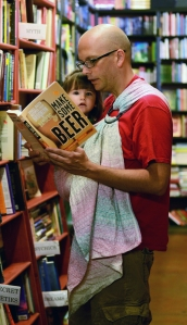 Matt from Smitten With Wovens reads to his toddler