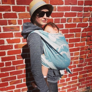 Sleeping baby in Kangaroo Carry