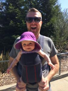 Ryan from http://daddyissue123.com wearing his daughter
