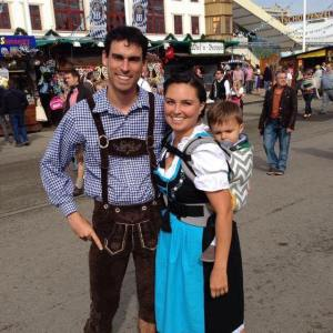 Jade of weekings.com at Oktoberfest with her family