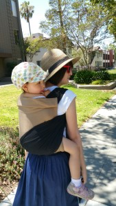 Using those wrap style straps for leggy toddler support