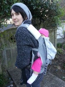 Oh gee, these straps are way too loose. Baby is too low, and my back is strained supporting her weight.