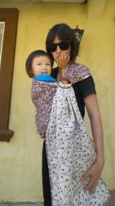 Tala Seren Ring Sling with a 3 year old.